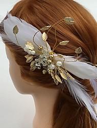 Mulheres Penas / Strass / Liga / Acrilíco Capacete-Casamento / Ocasião Especial / Casual Flores / Clip para o Cabelo 1 Peça