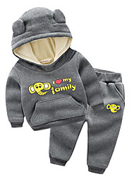 Boy Casual/Daily Animal Print Sets,Cotton Fall Clothing Set