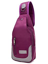Feminino Sling sacos de ombro Tecido Oxford Poliéster Algodão Todas as Estações Esporte benzóico Ao Ar Livre zíper Preto Roxo Azul