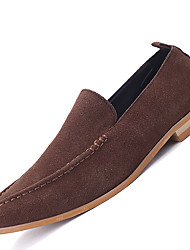 Men's Loafers & Slip-Ons Comfort Suede Casual Flat Heel Slip-on Black / Blue / Brown / Green Others