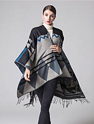 NITE OWL Women Polyester ScarfCasual RectangleRed / Black / Blue / Yellow / OrangeJacquard-16036