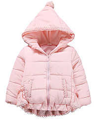 Girl's Going out Solid Down & Cotton Padded,Cotton Winter Pink / Purple / Red