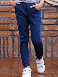 Girl's Casual/Daily Solid JeansCotton Winter Blue