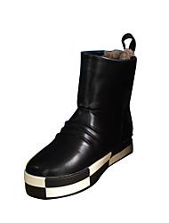Boy's Boots Winter Comfort PU Outdoor / Casual Flat Heel Rivet / Others Red Walking