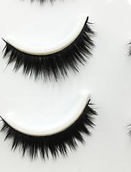 Eyelashes lash Full Strip Lashes Eyes Thick Volumized Handmade Fiber Black Band 0.07mm 10mm