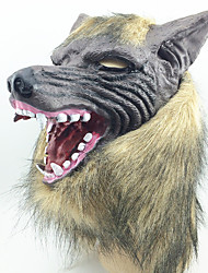 Máscaras de Dia das Bruxas / Máscaras de Carnaval Cabeça de Lobo Decoração Para Festas Halloween / Baile de Máscaras 1PCS