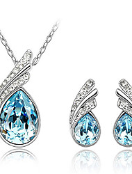 Thousands of colors  Jewelry Necklaces / Earrings Jewelry set Crystal Fashion Daily 1set Women -2692
