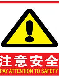 signes de sécurité en PVC (un paquet de 3 un pack d'une note par la livraison sûre)