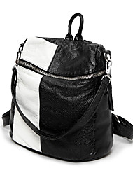 Casual Outdoor Shopping Backpack Women PU Multi-color
