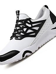 Femme-Extérieure / Décontracté / Sport-Noir / Rouge / Blanc-Talon Bas-Confort-Sneakers-Polyuréthane