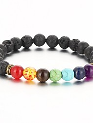 2016 New Natural Black Lava Stone Bracelets Balance Beads Bracelet for Men Women Stretch Yoga Jewelry