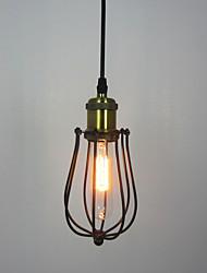 1 Heads Vintage Industrial Loft Cage Pendant Lights Metal Dining Room Kitchen Cafe Bar Light Fixture