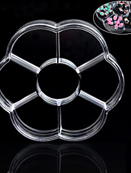 1PCS Nail Art Accessories Storage Box  7 Grid  Flower Type Classification And Tidy Convenient To Take