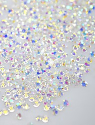 120pcs brilhar Flatback / octagonal forma Decorações Nail Art brilho strass 3d cristalina SS3 ab diamante