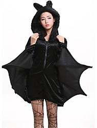 Adult Animal Cute Bat Costume Black Women Vampire Cospaly Zipper Jumpsuit Connect Wings Super Hero Clothes Sexy Halloween Costumes