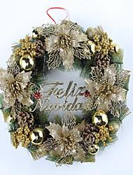 Рождественский венок золотой цвет