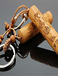 Jujube Wood Strikes Wood Eighteen Arhat Keychain Creative Car Key Accessories Pendant