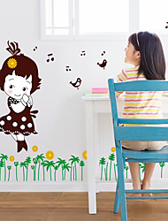 Bande dessinée / Mode / Floral Stickers muraux Stickers avion Stickers muraux décoratifs,PVC Matériel Amovible Décoration d'intérieurWall