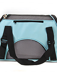 Portable Puppy Dog Cat Carry Carrier Bag Handbag Travel Blue Canvas