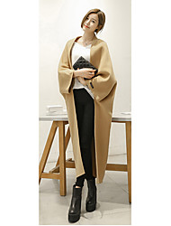 0366/0365 # 2015 double-sided cashmere coat handmade woolen coat and long sections longer section Sign