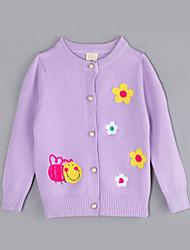 Girl Casual/Daily Jacquard Sweater & Cardigan,Cotton Fall