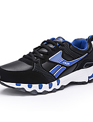 Masculino-Tênis-Conforto-Rasteiro-Cinza Azul Real-Couro Ecológico-Casual
