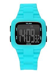 Herren Sportuhr / Armbanduhr digital Wasserdicht / Schockresistent / Mehrfarbig Plastic BandVintage / Karton / Streifen / Heart Shape /