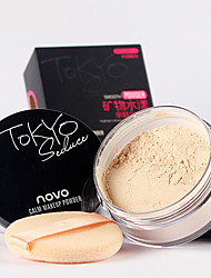 Novo Whitening Soft Makeup Loose Powder Finishing Powder Concealer 15g 1Pc (with Puff)