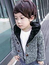 Boy's Casual/Daily Print Jacket & CoatCotton Winter / Spring Gray