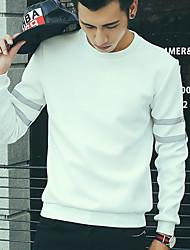 Sweatshirt Hommes Décontracté / Quotidien simple,Couleur Pleine Col Arrondi Extensible Coton Manche Longues Automne / Hiver