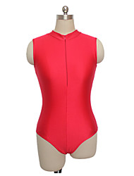 Nylon/Lycra High Neck Mesh Back Dance Leotard More Colors for Girls and Ladies