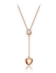 Fashion Style Gold Tone Heart with Tassel Pendant Necklace