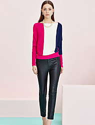 Pantaloni Da donna Skinny Moda città Rayon / Poliestere Anelastico