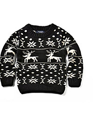 Boy's Casual/Daily Animal Print Sweater & CardiganCotton Winter Black
