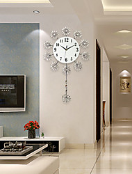 Modern/Contemporary Houses Wall ClockOthers Acrylic / Glass / Metal 44*73cm Indoor Clock