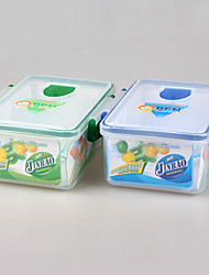 Double Layer Transparent Lunch Box with Chopsticks and Spoon