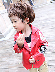 Boy's Casual/Daily Print Jacket & CoatCotton Winter Black / Red