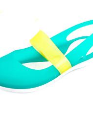 Feminino-Sandálias-Plástico-Anabela-Preto Azul Amarelo Roxo-PVC-Casual
