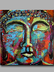 Hand-Painted Abstract Abstract Portrait Square,Modern Classic One Panel Canvas Oil Painting For Home Decoration