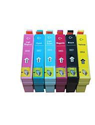 sonho do vôo 1390 cartuchos compatíveis com a Epson A Epson 1390 85 t0851 cartuchos de tinta de impressora bk 18ml c m y lc lm 17,5 ml