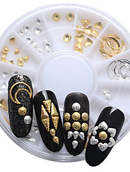 120pcs/wheel 3D Nail Art Decoration Japanese Tiny Alloy Nail Stud DIY Nails Sticker Moon/Love