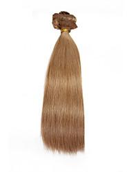 9pcs / set clipe de 120g de luxo em extensões do cabelo cinza cabelo humano de 16 polegadas 20 polegadas 100% reta marrom para mulheres