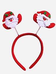 4PCS Christmas Party Cute Santa  Hat Hair Head Band Christmas Decoration