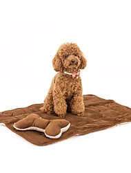 Dog Bed Pet Blankets Green / Brown Corduroy