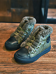 Girl's Boots Others Leather Casual Black / Green / Gray