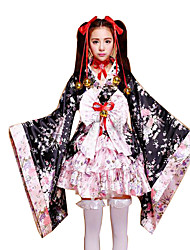 Cosplay Costumes Princess / Maid Costumes Festival/Holiday Halloween Costumes Pink Floral Shirt / More Accessories Female