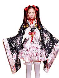 Costumes de Cosplay Princesse / Tenus de Servante Fête / Célébration Déguisement Halloween Incarnadin Fleur Chemise / Plus d'accessoires