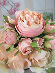 """Fleurs de mariage Rond Roses Bouquets Mariage Fleur séchée 7.48""""(Env.19cm)"""
