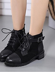 2016 new women's boots boots thick with high-heeled leather boots wild pointed ankle boots Martin boots single women