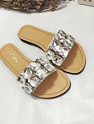 Damen-Slippers & Flip-Flops-Lässig-PUKomfort-Silber